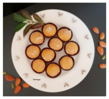 Badami Besan Laddu - Plattershare - Recipes, Food Stories And Food Enthusiasts