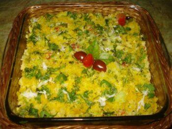 Khaman Dhokla Salad #Mymonthlyrecipepick - Plattershare - Recipes, Food Stories And Food Enthusiasts