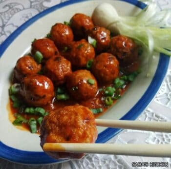 Sichaun Chicken Meatballs - Plattershare - Recipes, Food Stories And Food Enthusiasts