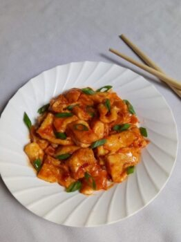 Schezwan Egg Strips - Plattershare - Recipes, Food Stories And Food Enthusiasts