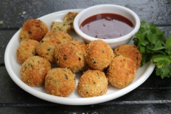 Crispy Cheese Balls Without Oil - Plattershare - Recipes, Food Stories And Food Enthusiasts