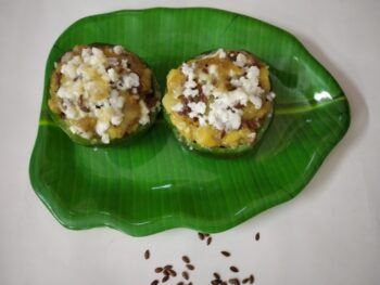 Cheesy Capsicum - Plattershare - Recipes, Food Stories And Food Enthusiasts