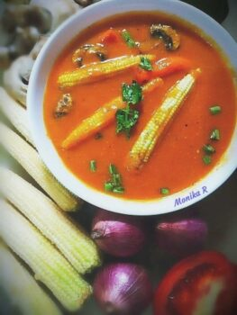 Grilled Veggies In Garden Soup - Plattershare - Recipes, Food Stories And Food Enthusiasts