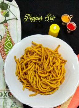 Peppper Sev ~ Miriyala Jantikalu ~ Milagu Sev - Plattershare - Recipes, Food Stories And Food Enthusiasts