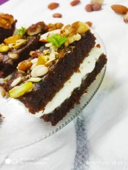 Coffee Brownie Walnut Ice Cream Sandwich - Plattershare - Recipes, Food Stories And Food Enthusiasts
