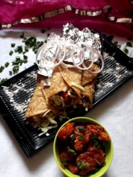 Gobi Manchurian Roll - Plattershare - Recipes, Food Stories And Food Enthusiasts