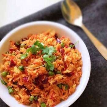 Beetroot Pulav - Plattershare - Recipes, Food Stories And Food Enthusiasts