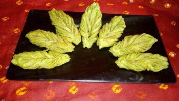 Leaf Shaped Mathri - Plattershare - Recipes, Food Stories And Food Enthusiasts