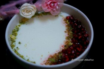 Israeli Malabi With Pomegranate Syrup - Plattershare - Recipes, Food Stories And Food Enthusiasts