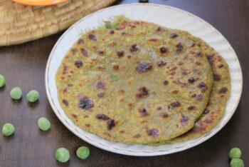 Matar Paratha Recipe - Plattershare - Recipes, Food Stories And Food Enthusiasts