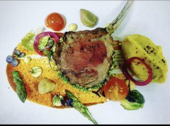 Broccoli Crusted Lamb Chop, Makhni Sauce, Ghee Roasted Asparagus , Saffron Mash Potato - Plattershare - Recipes, Food Stories And Food Enthusiasts