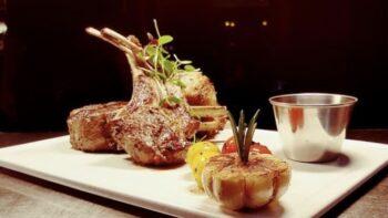 Aji Panca Marinated Lamb Chop, Roasted Tomato, Slow Cooked Garlic, Rosemary Jus - Plattershare - Recipes, Food Stories And Food Enthusiasts