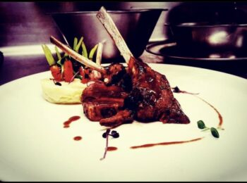 Barbecue Glazed Lamb Chops, Mash Potato ,Buttered Baby Carrots - Plattershare - Recipes, Food Stories And Food Enthusiasts