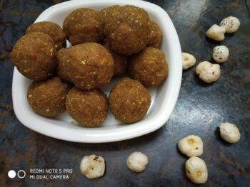 Laddoo Made From Jau (Barley) - Plattershare - Recipes, Food Stories And Food Enthusiasts