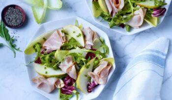 Ham And Pear Arugula Salad - Plattershare - Recipes, Food Stories And Food Enthusiasts