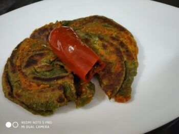 Bi Colour Jalebi Paratha - Plattershare - Recipes, Food Stories And Food Enthusiasts