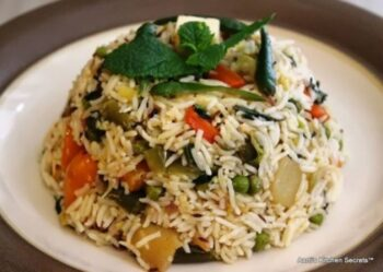 Veg Pulao With Mint - Plattershare - Recipes, Food Stories And Food Enthusiasts