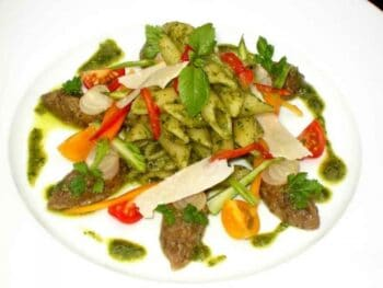 Penne Pesto With Sausages - Plattershare - Recipes, Food Stories And Food Enthusiasts