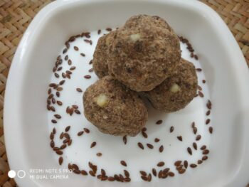 Flaxseeds Laddoo - Plattershare - Recipes, Food Stories And Food Enthusiasts