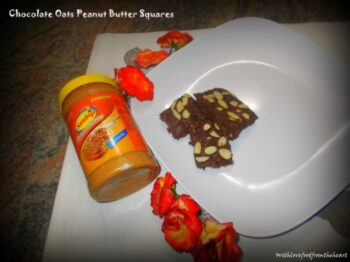Chocolate Oats Peanut Butter Squares - Plattershare - Recipes, Food Stories And Food Enthusiasts