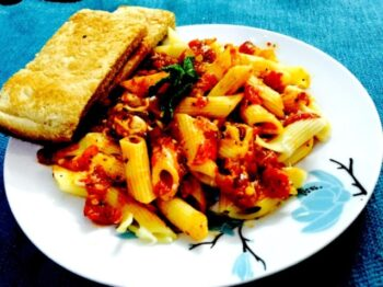 Pasta Arrabiata (Say No-Cheese) - Plattershare - Recipes, Food Stories And Food Enthusiasts