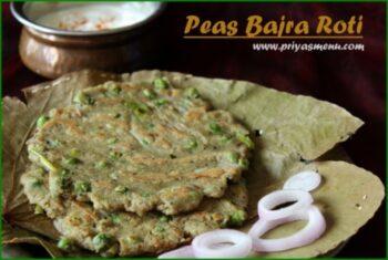 Peas Bajra Roti - Plattershare - Recipes, Food Stories And Food Enthusiasts