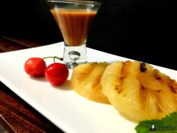 Brazilian Grilled Pineapple With Coconut Caramel Sauce - Plattershare - Recipes, Food Stories And Food Enthusiasts
