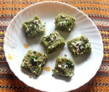 Spinach (Palak) Dhokha - Plattershare - Recipes, Food Stories And Food Enthusiasts