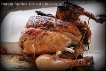 Potato Stuffed Grilled Chicken - Plattershare - Recipes, Food Stories And Food Enthusiasts