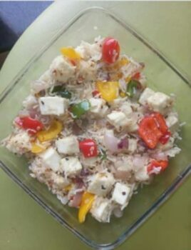 Paneer Pepper Rice - Plattershare - Recipes, Food Stories And Food Enthusiasts