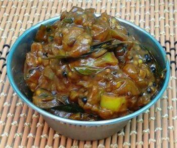 Eggplant Tangy Pickle (Kathirikkai/Brinjal Puli Thokku) - Plattershare - Recipes, Food Stories And Food Enthusiasts