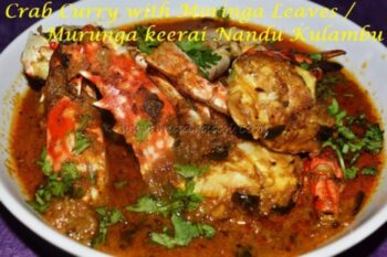 Crab Curry With Moringa (Drumstick) Leaves - Plattershare - Recipes, Food Stories And Food Enthusiasts