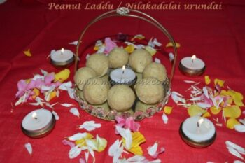 Peanut Laddu / Nilakadalai Urundai - Plattershare - Recipes, Food Stories And Food Enthusiasts