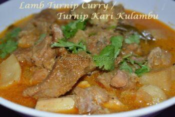 Lamb Turnip Curry / Turnip Kari Kulambu - Plattershare - Recipes, Food Stories And Food Enthusiasts