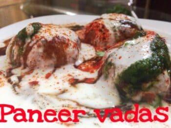 Paneer Vadas - Plattershare - Recipes, Food Stories And Food Enthusiasts