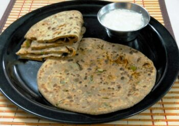 Carrot Capsicum Paratha - Plattershare - Recipes, Food Stories And Food Enthusiasts