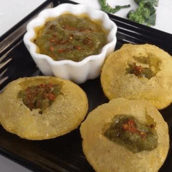 Makke De Golgappe. Sarson Ka Paani - Plattershare - Recipes, Food Stories And Food Enthusiasts