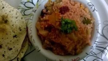 Broken Wheat Mix With Vegetables - Plattershare - Recipes, Food Stories And Food Enthusiasts