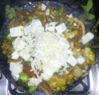 Paneer Minty Sizzler On Tawa. (With Paneer Potato Cutlet, Veg'S.) - Plattershare - Recipes, Food Stories And Food Enthusiasts