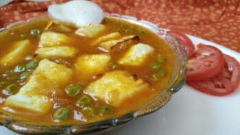 Matar Paneer Recipe With Soup Maker - Plattershare - Recipes, Food Stories And Food Enthusiasts