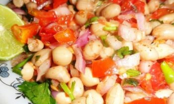 Mungfali Chaat/ Peanut Chaat - Plattershare - Recipes, Food Stories And Food Enthusiasts