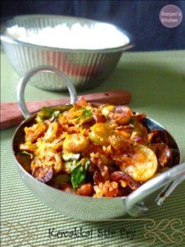 Kovakkai Stir Fry - Plattershare - Recipes, Food Stories And Food Enthusiasts