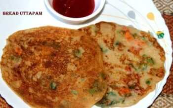 Instant Bread Uttapam - Plattershare - Recipes, Food Stories And Food Enthusiasts