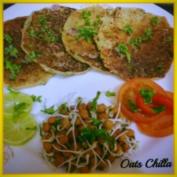 Oats Chilla - Plattershare - Recipes, Food Stories And Food Enthusiasts