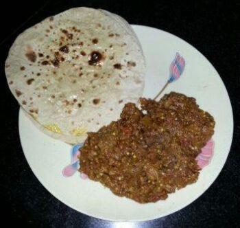 Baigan Ka Bhartha / Seasoned Roasted Eggplant Relish - Plattershare - Recipes, Food Stories And Food Enthusiasts