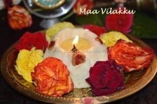 Maa Vilakku / Edible Lamp - Plattershare - Recipes, Food Stories And Food Enthusiasts