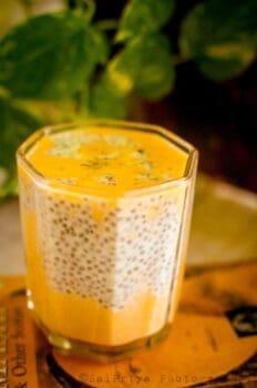 Chia-Mango Shake - Plattershare - Recipes, Food Stories And Food Enthusiasts