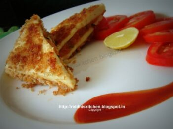 Paneer Sandwich Kabab - Plattershare - Recipes, Food Stories And Food Enthusiasts