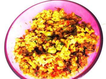 Keema Gobhi (Cauliflower) - Plattershare - Recipes, Food Stories And Food Enthusiasts