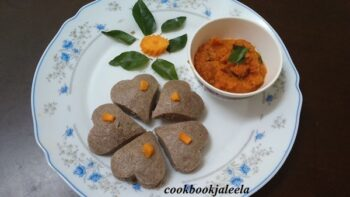 Heart Shape Mini Ragi Idly &Amp; Tomato And Carrot Chutney - Plattershare - Recipes, Food Stories And Food Enthusiasts